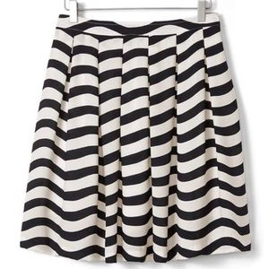 NEW $118 Banana Republic Striped Pleated Skirt 8